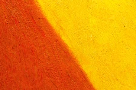 painted canvas (red and yellow colors on rough surface)