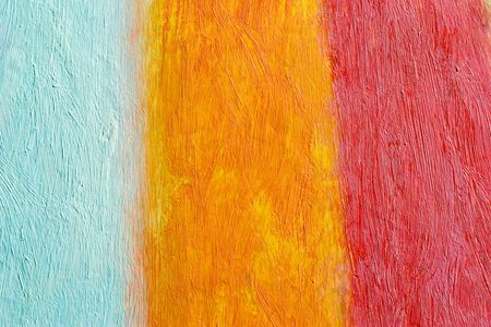daubs: painted canvas (blue, orange and red colors on rough surface)