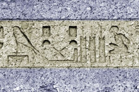 egyptian hieroglyphs photo