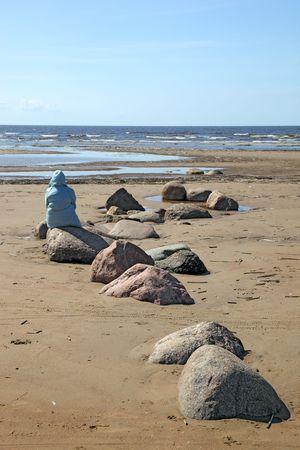 desert coastline with woman (3)