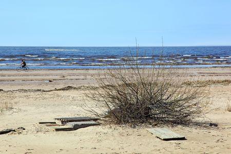 desert coastline Stock Photo