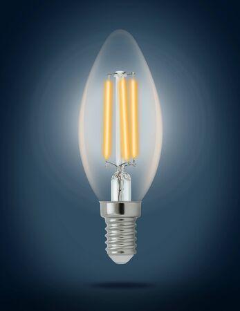 lumen: LED filament light bulb (E14).