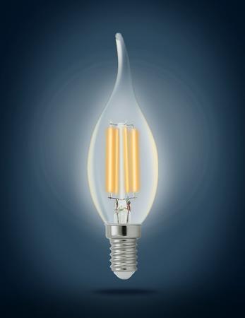 filament: LED filament light bulb (E14).