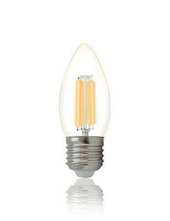 filament: LED filament light bulb (E27). With clipping path
