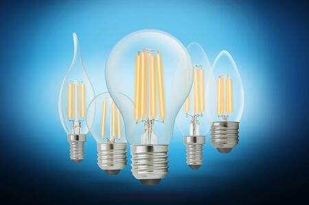 LED filament light bulb, Cool White 6000K.