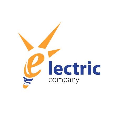 Electric logo template. Vector Illustration Eps.10. Electric company vector logo Ilustracja