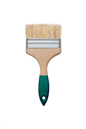 Paint brush isolated on white background. With clipping path 免版税图像