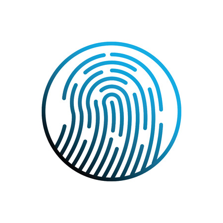 Fingerprint icon. The vector icon for websites, web design, mobile app. Illustration Vector. eps 10