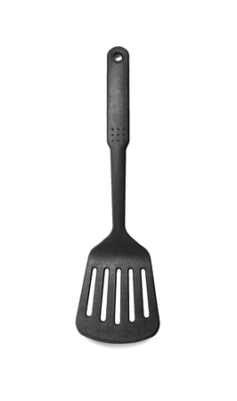 Plastic kitchen spatula isolated on a white background