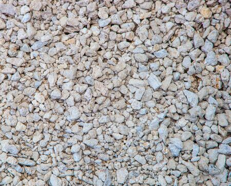 Macadam. Building material. The use of rubble for road construction. Close up