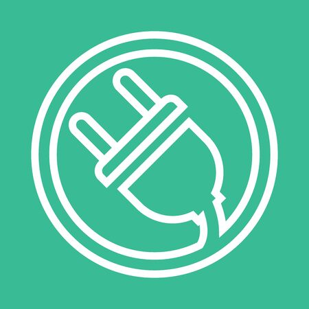 Electrical plug . Template charging point logotype. Vector illustration. Icon sign. Ilustração