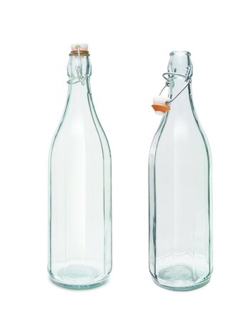 Empty vintage bottle isolated on white background. With clipping path. Banque d'images
