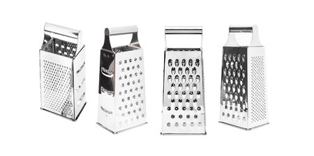 Stainless steel grater isolated on a white background. With clipping path