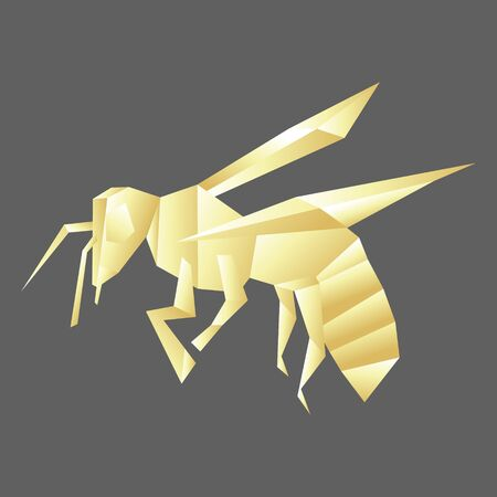 Bee insect polygonal illustration.