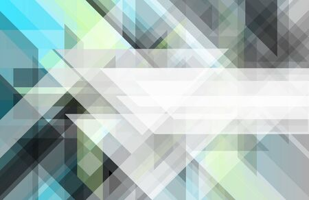 Abstract geometric vector banner with triangular pattern