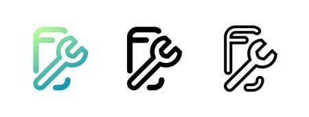 Repair phone icon. One of set web icons. Vector icon. Ilustração