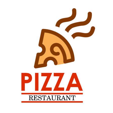 Pizza restaurant vector log. Template Design Vector Design Illustration Ilustração