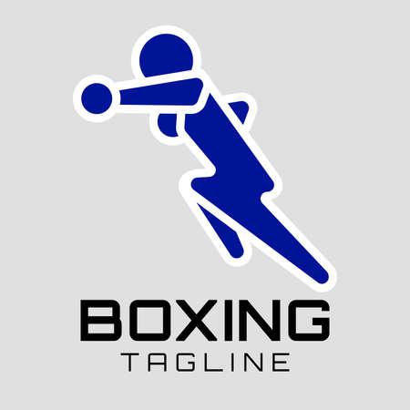 Boxing club, competitions logo. Martial arts of logo design concept Ilustração
