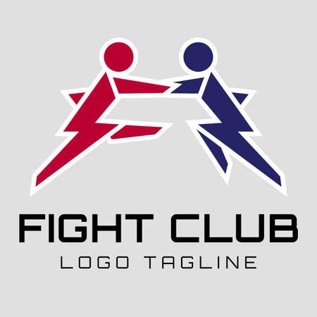 Fight club logo. Martial arts of logo design concept Ilustração