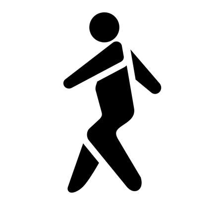 Walking man vector icon. People walk sign illustration. Isolate on white background