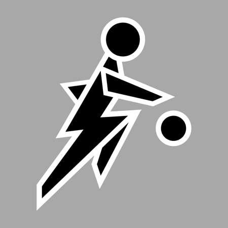 Basketball Player Icon Sign Symbol Pictogram. Flat design