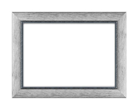 wooden frame for picture or photo, frame for a mirror isolated on white background. With clipping path