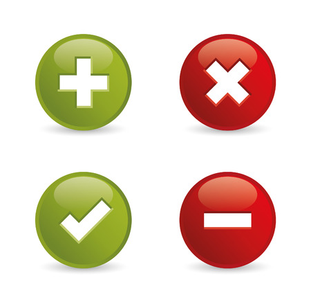 accept: Validation icons  Vector illustration