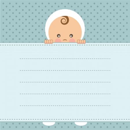it s a boy: Baby boy announcement card  Vector illustration