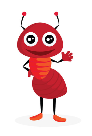 red ant: Ant  Vector illustration