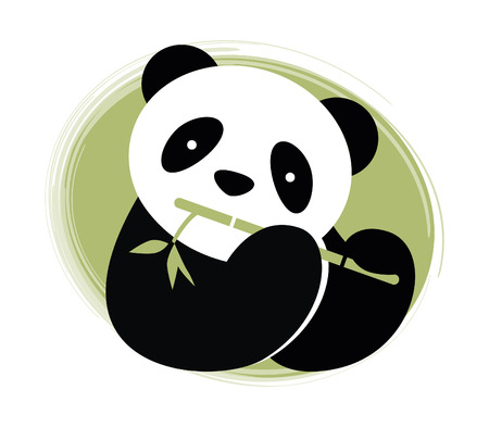 竹ベクトル図とパンダ