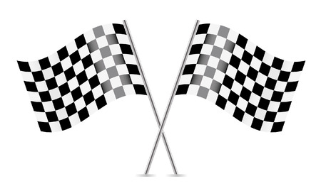 Checkered Flags  racing flags   Vector illustration Reklamní fotografie - 23071938