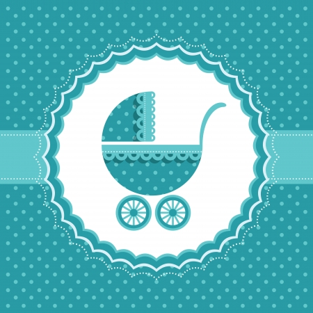 Baby announcement card  Vector illustration  Vector