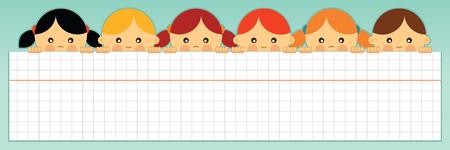 school website: School banner  Vector illustration