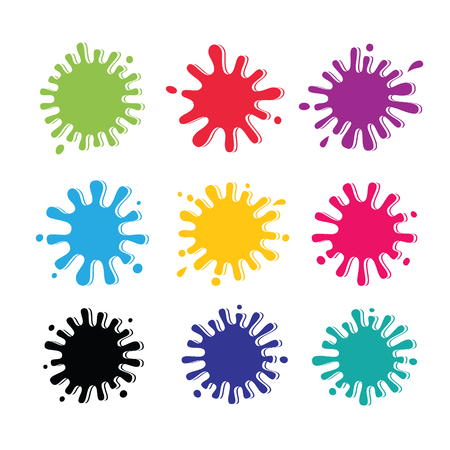Set of colored blots on the white background  Vector Illustration  Vector