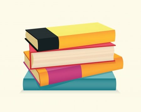 stack of documents: Stack of colorful books  Vector illustration