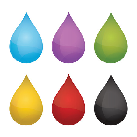 petroleum blue: Drops   Vector illustration