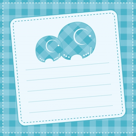 赤ちゃん男の子の発表カード ベクトル イラスト