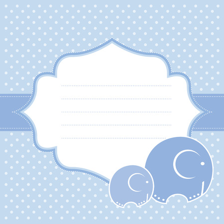 invite congratulate: Baby boy announcement card  Vector illustration