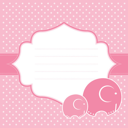 Baby girl announcement card  Vector illustration  Ilustrace
