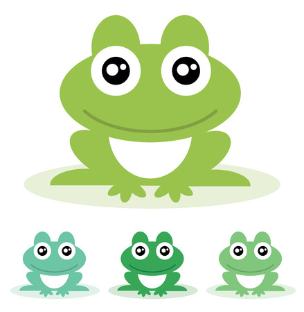 Frog  Vector illustration  Ilustracja