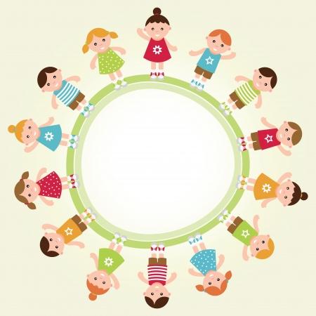 Kids frame  Vector illustration Zdjęcie Seryjne - 23508748
