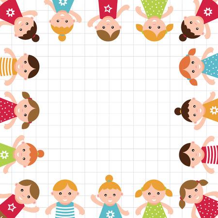 Kids frame  Vector illustration Reklamní fotografie - 23508749