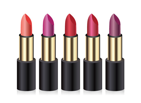 Lipsticks  Vector illustration  Vector