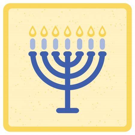 simbolos religiosos: Menorah Ilustraci�n vectorial Vectores