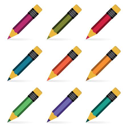 Pencils set  Vector illustration Stock Vector - 23508799