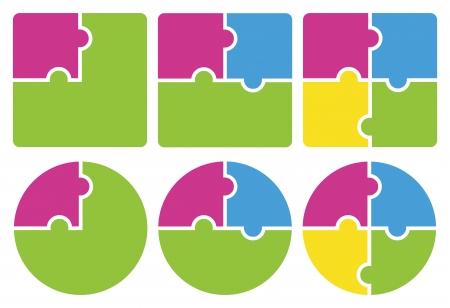 piezas de puzzle: Puzzle ilustración vectorial