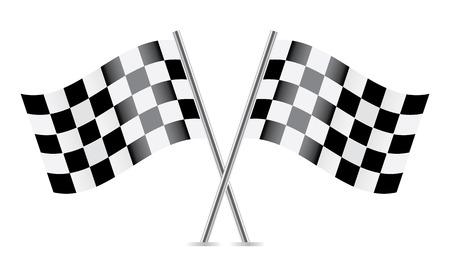 チェッカー フラグ フラグをレース ベクトル イラスト  イラスト・ベクター素材