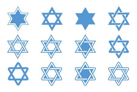 estrella de david: Estrella de David ilustración vectorial