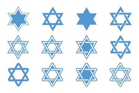 jewish star: Star of David  Vector illustration