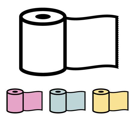 papel higienico: Rollo de papel ilustración vectorial Vectores